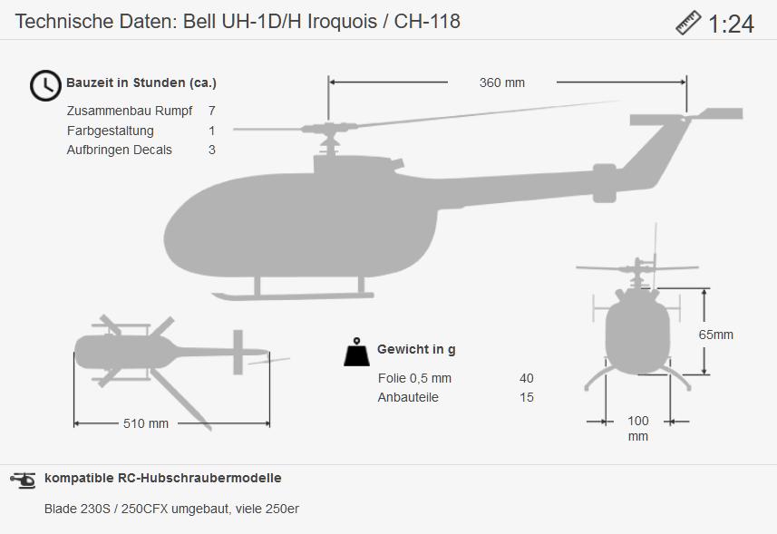 Masse UH-1B 1:24