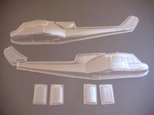 UH-1C Huey - Folieteile 0.2 mm