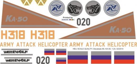 Ka-50 - H 318 Werewolf - Decal 80 - 1:35