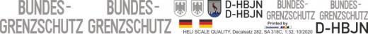 SA 318C - Bundesgrenzschutz D-HBJN - Decal 282 - 1:32