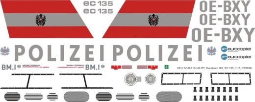 EC 135 - Polizei Österreich - OE-BXY - Decal 163 - 1:18
