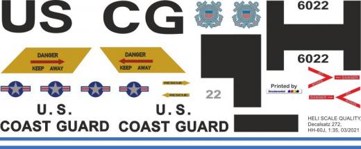 HH-60J - US Coast Guard - Decal 272  - 1:35
