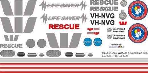 EC 135 - Westpac Rescue - VH-NVG - Decal 293 - 1:32