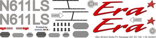 EC 135 - Era - N611LS - Decal 297 - 1:18