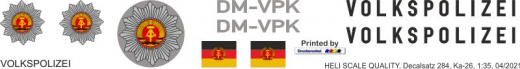Ka-26 - Volkspolizei DM-VPK - Decal 284 - 1:35