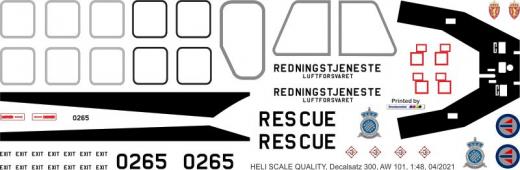 AW 101 - Norwegen - Decal 300 - 1:72