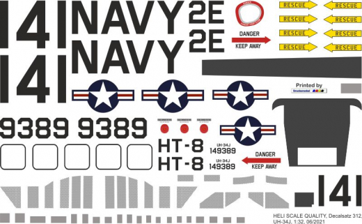 UH-34J - US Navy - Decal 312 - 1:48