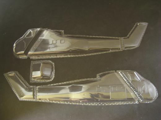 S-58 / H-34G / UH-34D - Folieteile 0.3 mm - 1:32