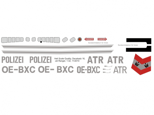 Bell 206 - Polizei Österreich - Decal 16 - 1:32