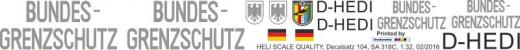 SA 318C - Bundesgrenzschutz D-HEDI - Decal 104 - 1:32