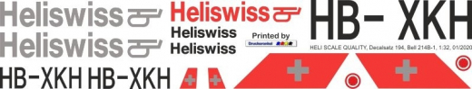 UH-1D - Heliswiss - HB-XKH - Decal 194