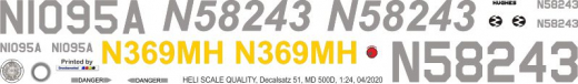 MD 500D - Magnum Cooper - Decal 51 - 1:18