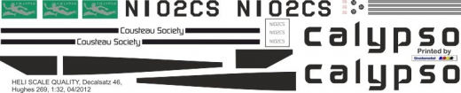 Hughes 269 - Calypso - NI02CS - Decal 46