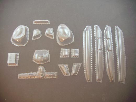 Hughes 269 Calypso - Folieteile 0.2 mm