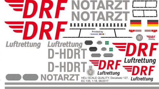 EC 135 - DRF - D-HDRT - Decal 127 - 1:32
