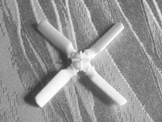 Heckrotor Vierblatt 56 mm (AW 101)