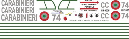 MD 500D - Carabinieri - CC 74 - Decal 173 - 1:35