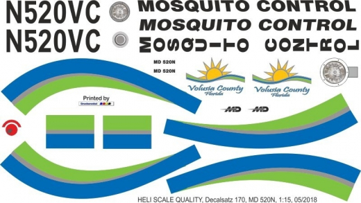 MD 520N - Mosquito Control - N520VC - Decal 170