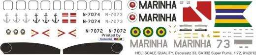 AS 332 - Marine Brasilien - Decal 33 - 1:72