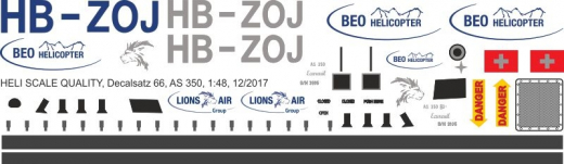 AS 350 - BEO Helicopter - HB-ZOJ - Decal 66 - 1:18
