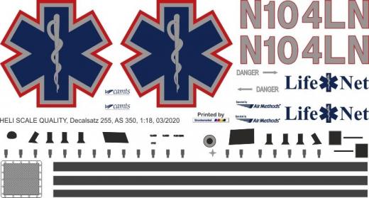 AS 350 - Mercy Air - N104NL - Decal 255 - 1:48