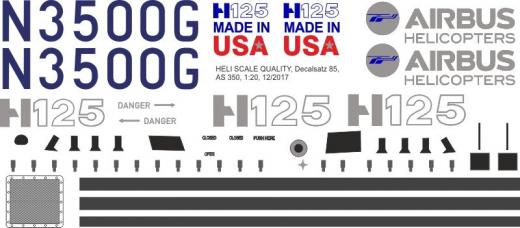 AS 350 - N3500G - Decal 85 - 1:18