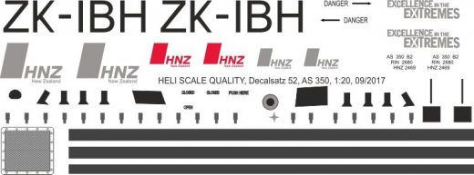 AS 350 - Neuseeland - ZK-IBH - Decal 52 - 1:48