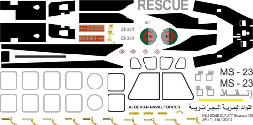AW 101 - Algerian Naval Forces - Decal 123 - 1:48