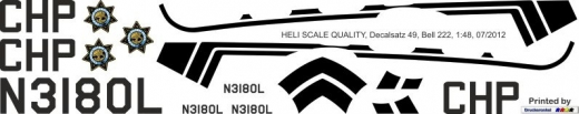 Bell 222 - California Highway Patrol - N3180L - Decal 49