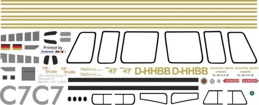 Bell 407 - Hamburger Heliservice - D-HHBB - Decal 75