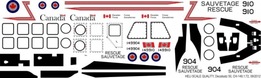 CH-149 - Canadian Armed Forces - Decal 50 - 1:48