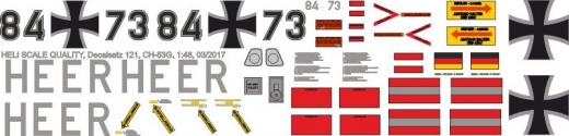 CH-53 - Bundeswehr Heer 84+73 - Decal 218 - 1:48