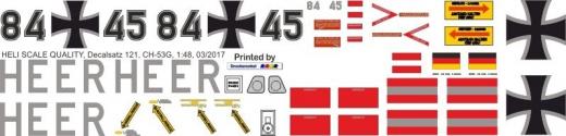 CH-53 - Bundeswehr Heer 84+45 - Decal 121 - 1:48