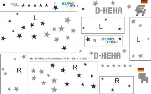 EC 120B - Euro Heli - D-HEHA - Decal 146 - 1:32