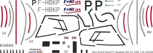 EC 120B - HeliDax - F-HBKP - Decal 260 - 1:32