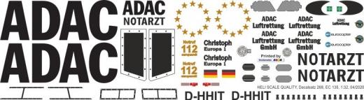 EC 135 - ADAC - D-HHIT - Decal 268 - 1:18