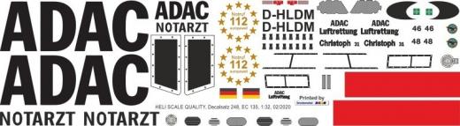 EC 135 - ADAC - D-HLDM - Decal 248 - 1:32