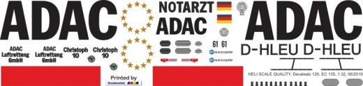 EC 135 - ADAC - D-HLEU - Decal 126 - 1:18