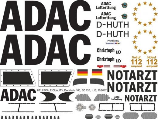 EC 135 - ADAC - D-HUTH Christoph 10 - Decal 160 - 1:32