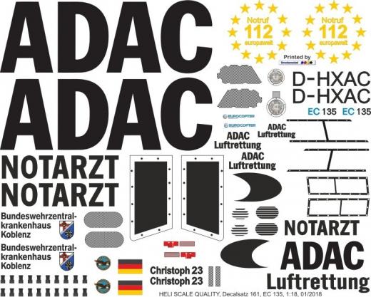 EC 135 - ADAC - D-HXAC - Decal 161 - 1:32