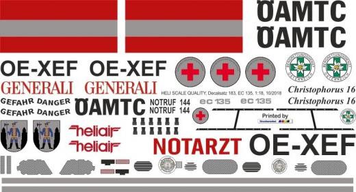 EC 135 - ÖAMTC - OE-XEF - Decal 183 - 1:18