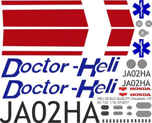 EC 135 - Doctor-Heli - JA02HA - Decal 137 - 1:32