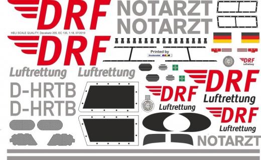 EC 135 - DRF - D-HRTB - Decal 205 - 1:18
