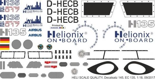 EC 135 - Helionix - D-HECB - Decal 145 - 1:18