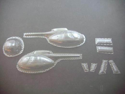 Hughes 500C - Folieteile 0.2 mm - 1:35