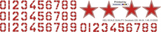 Mi-24 - Sowjetunion - Decal 226 - 1:48