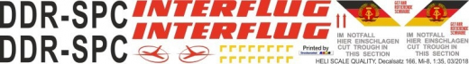 Mi-8 - Interflug - DDR-SPC - Decal 166 - 1:35