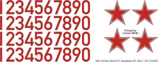 Mi-8 - Sowjetunion - Decal 227 - 1:35