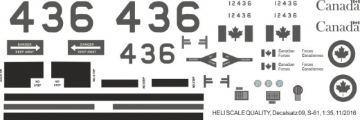 S-61 - Canadian Forces - Decal 09