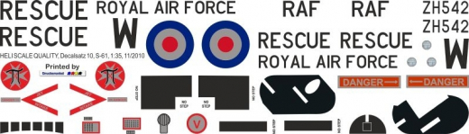 S-61 - Royal Air Force - ZH542 - Decal 10